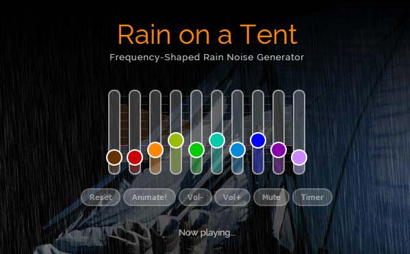 Rain on a Tent: Keine nassen Sachen
