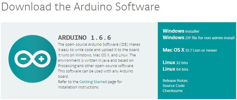 Arduino Software herunterladen