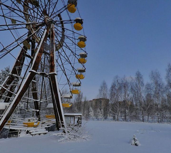 Riesenrad auf dem Rummelplatz in Prypjat - yandex.ru