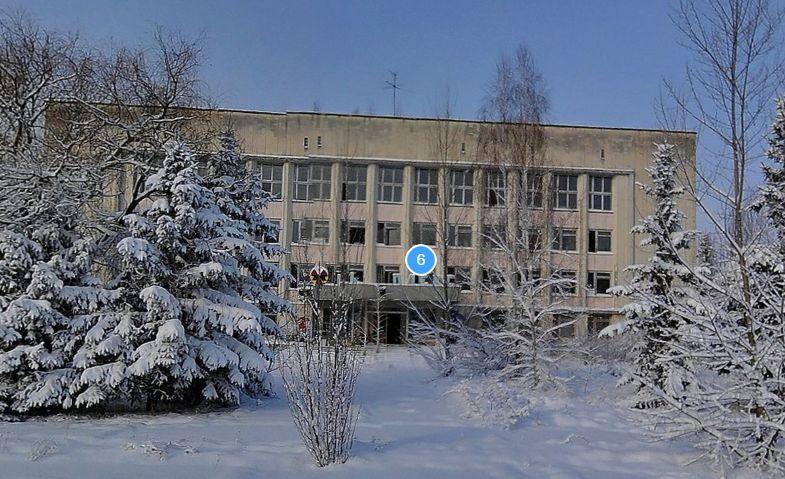 Direkt hinter dem Hotel liegt das Kernenergie-Institut - yandex.ru