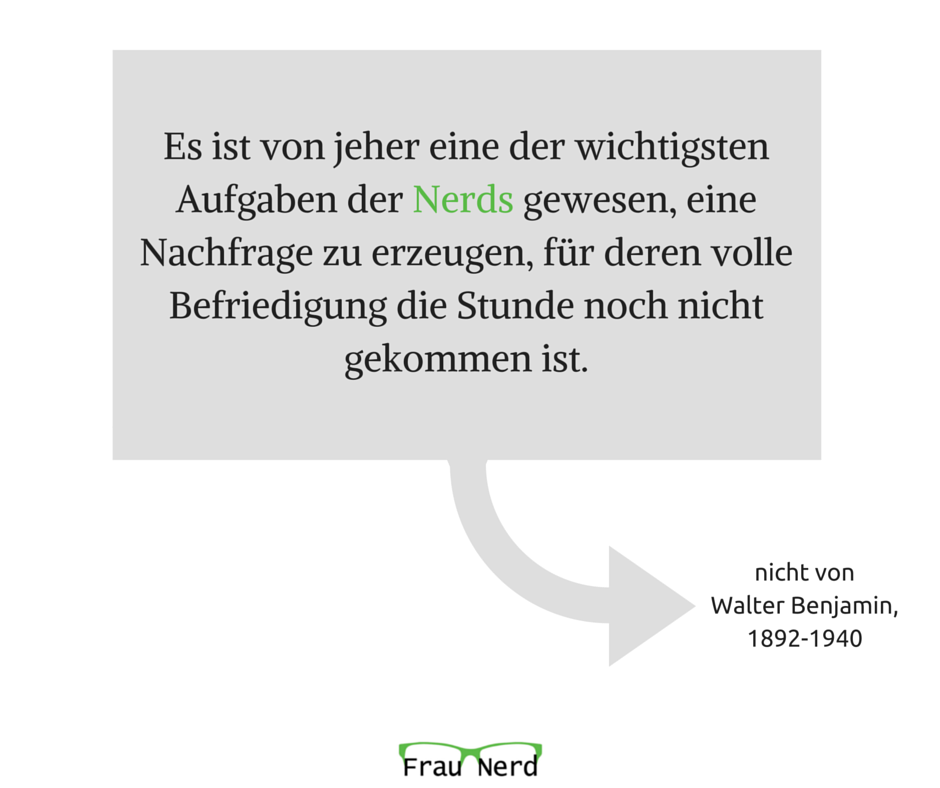 Was Walter Benjamin nie gesagt hat