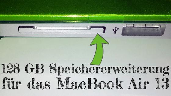 128 GB Speichererweiterung für das MacBook Air 13: externe SD bzw. Adapter für microSD von BaseQI