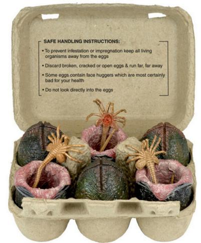Zum Wegrennen: 6 Eier mit 3 Facehuggern
