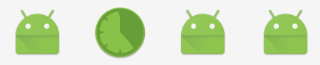 One of these things is not like the others: Selbstgemachtes Launcher-Icon zwischen den Standard-Icons