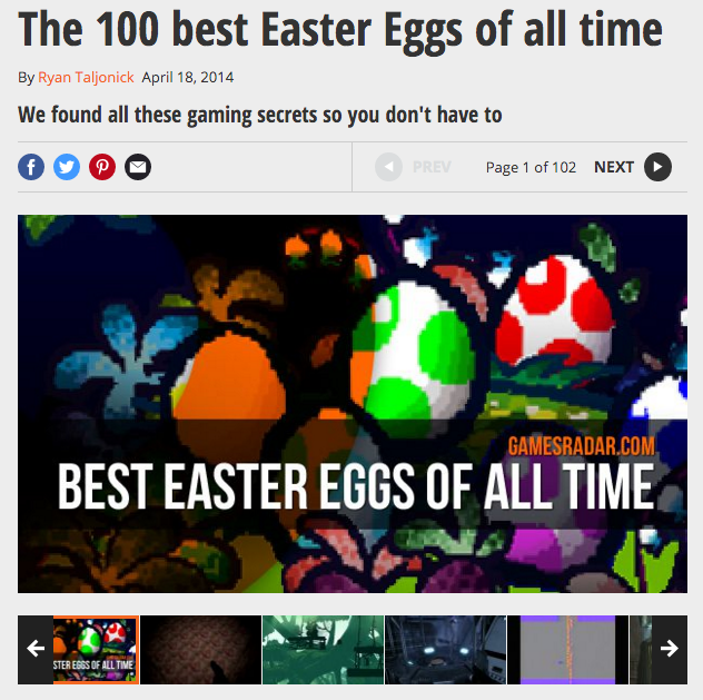 GamesRadar.com: Easter Eggs in Spielen