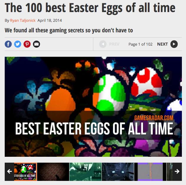 GamesRadar.com: Easter Eggs in Spielen