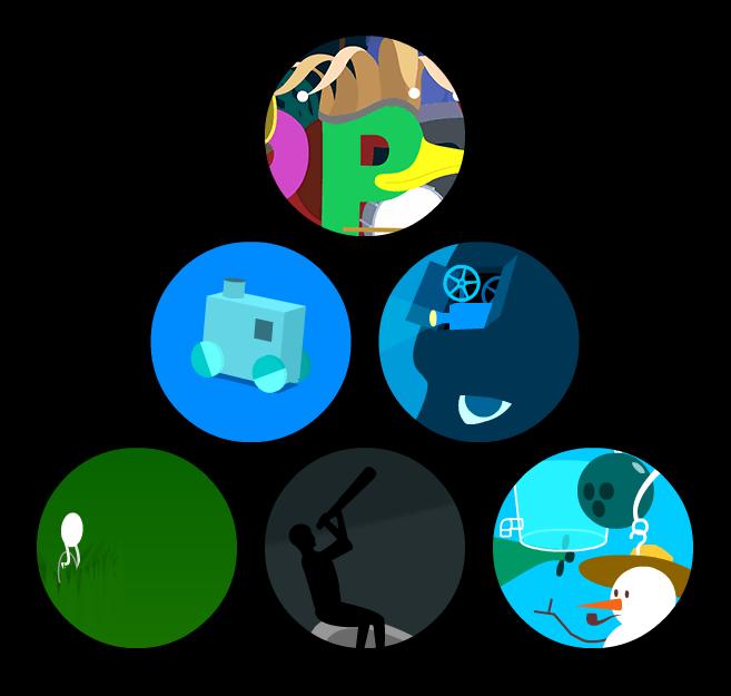Verschiedene Animationen von Vectorpark