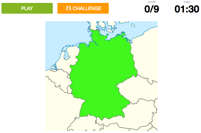 Can you name the countries bordering Germany on a map?