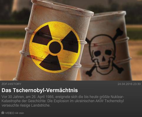ZDFHistory: Das Tschernobyl-Vermächtnis