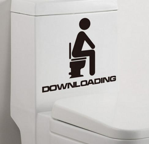 Downloading-Sticker für's Klo: WARUM sollte man sowas kaufen?