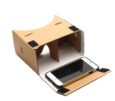 google cardboard vr brille auf aliexpress frau nerd. Black Bedroom Furniture Sets. Home Design Ideas