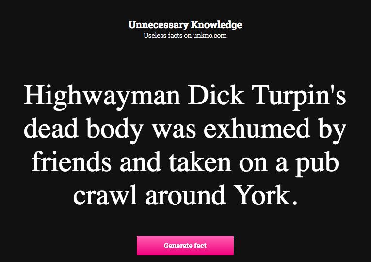 unknow.com weiß interessantes über Dick Turpin zu berichten