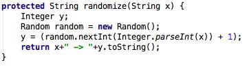Randomize: Das hier ist der eigentliche Zufallsgenerator.