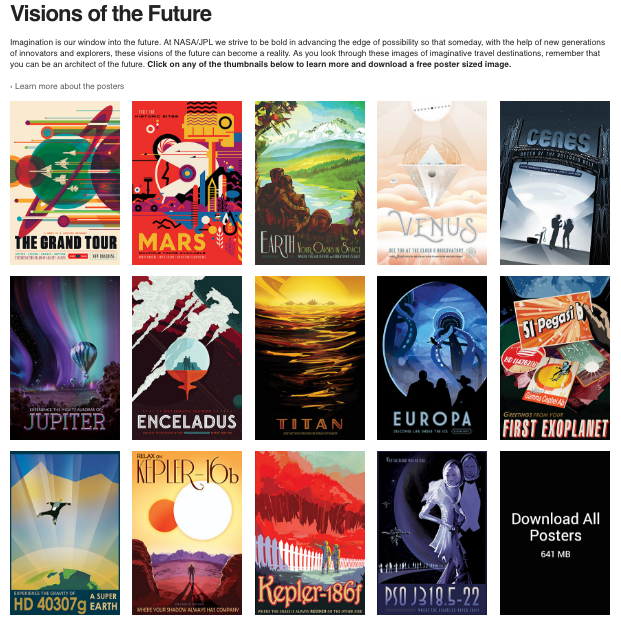Visions of the Future: Poster von NASA/JPL
