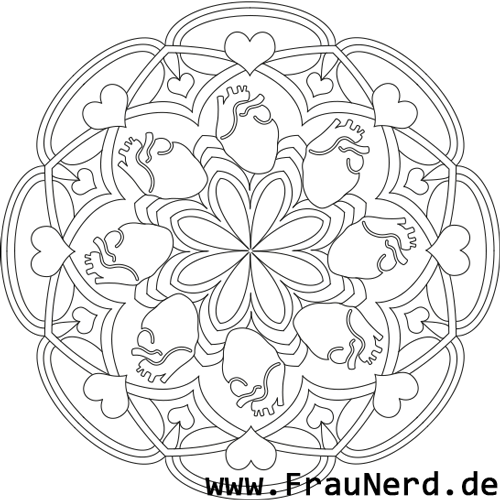 Herz-Mandala (mit echtem Herz)