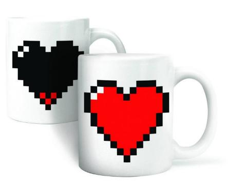 Pixel-Herz-Tasse