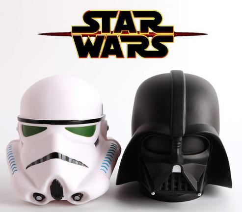 Stormtrooper und Darth Vader als Spardosen