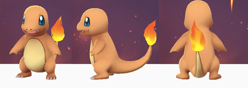 Glumanda bzw Charmander in Pokémon Go