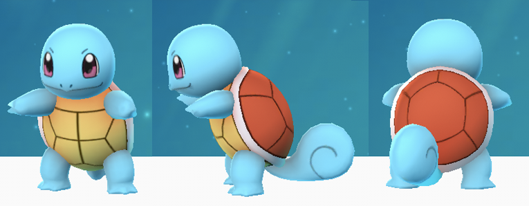 Schiggy bzw. Squirtle in Pokémon Go