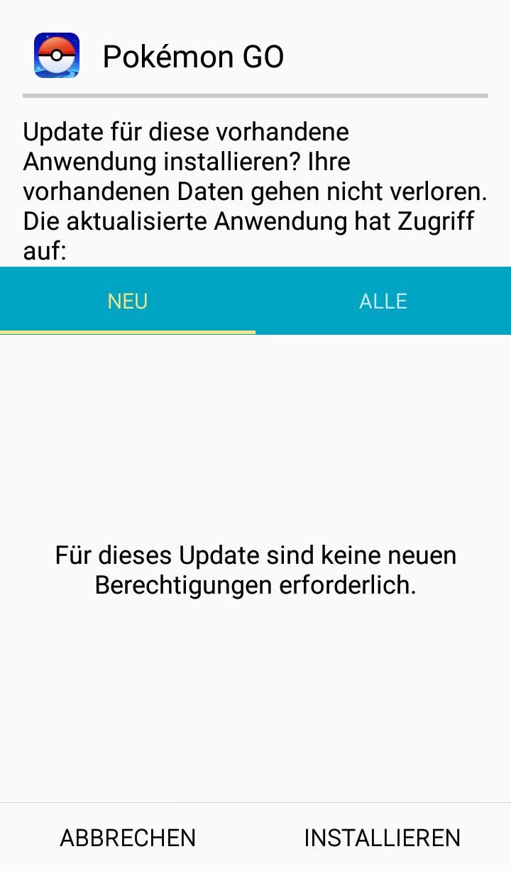 Wenn du das hier siehst, dann weißt du, dass tatsächlich ein Update ausgeführt wird.