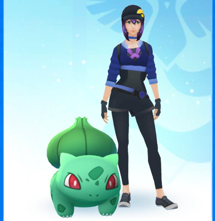 Bisasam und mein Avatar können jetzt in Ruhe eine Runde Pokémon GO spielen gehen