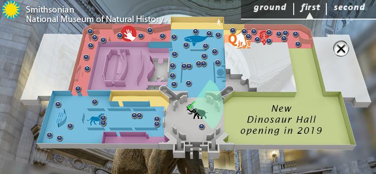 Lageplan des Smithsonian NMNH
