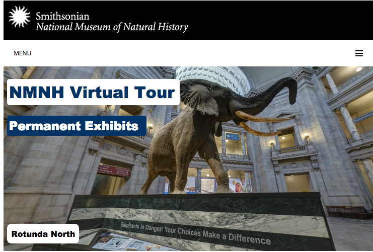 NMNH Virtual Tour: Virtueller Spaziergang durch das Smithsonian