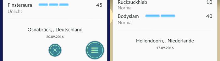 Pokémon GO Update 0.39.0: Fundorte sind zurück. Hier: Osnabrück und Hellendoorn.