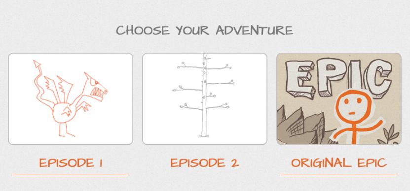 DrawAStickman.com: Adventure aussuchen und los geht's mit dem Strichmännchenspiel.