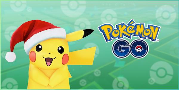 Pokémon GO: So stellt Niantic auf der Website das Pikachu mit Weihnachtsmannmütze dar.