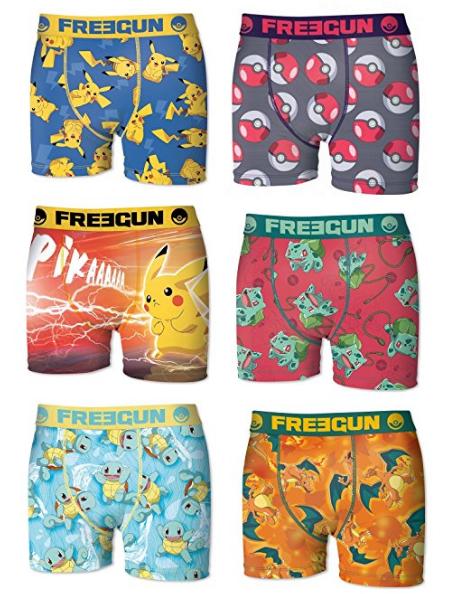 Boxershorts mit Pikachu, Pokébällen, Bisasam, Schiggy und Glurak: Amazon.de