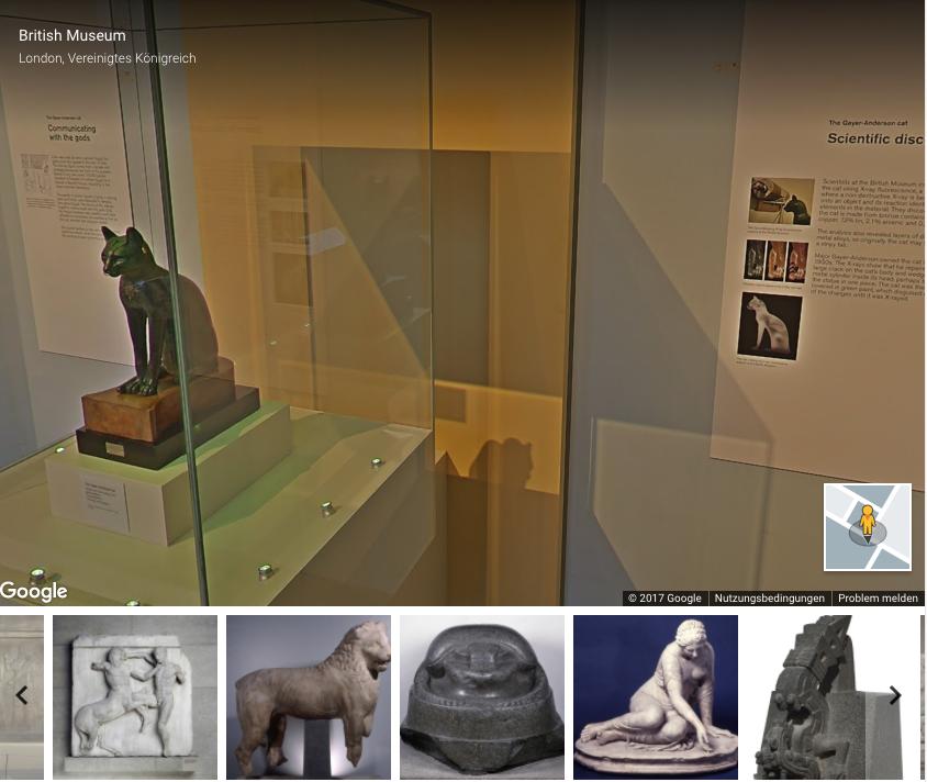 Miau! Nur eins von vielen Exponaten, die per Google Street View betrachtet werden können.