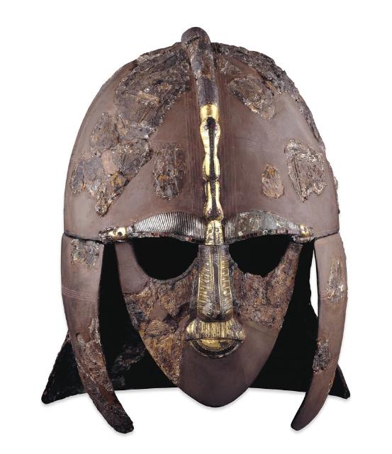 Helm aus dem Fund von Sutton Hoo. Bild: British Museum.