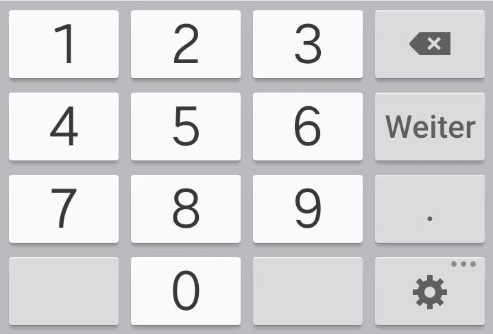 Spritrechner-App mit Dezimalzahlen-Tastatur: Wenn der inputType