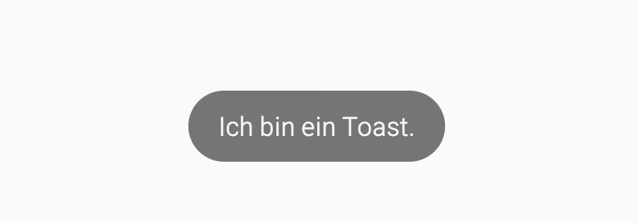 Einfacher Toast in Android.