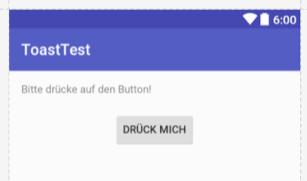 Minimale Toast-Test-App.