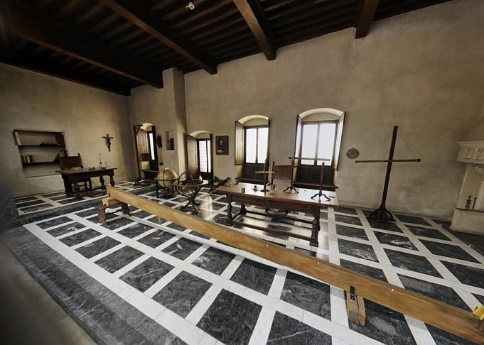 Nachbildung eines imaginären Arbeitsraums von Galileo Galilei im Deutschen Museum.