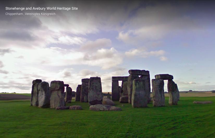 Blick auf Stonehenge. Google Arts & Culture.