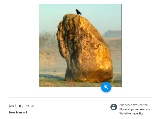 """Avebury Crow"" von Steve Marshall. Google Culture & Arts."
