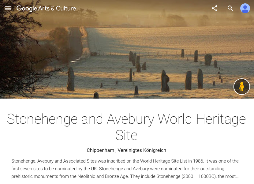 Stonehenge and Avebury World Heritage Site Google Institute - Google Arts Culture