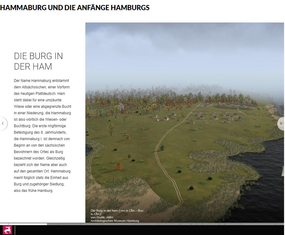 """AMH: Durch die Bilder der Sammlung """"Hammaburg und die Anfänge Hamburgs"""" klicken."""