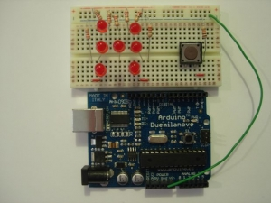 Arduino-LED-Würfel. Foto: Davide311, Instructables.