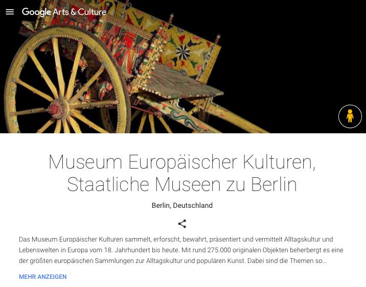 Museum Europäischer Kulturen Berlin auf Google Arts & Culture