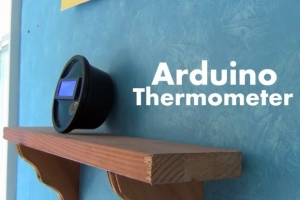 Arduino-Thermometer. Foto: Constructed, Instructables.